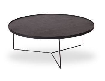 Alora Large Coffee Table Black Stained American Ash with Black Legs by Bent Design image