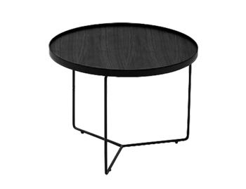 Alora Medium Coffee Table Black Stained American Ash with Black Legs by Bent Design image
