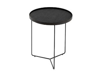 Alora Side Table Black Stained American Ash with Black Legs by Bent Design image