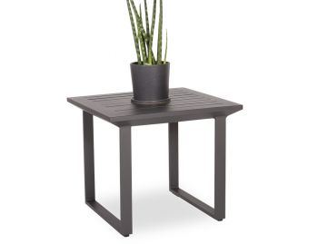 Vivara Outdoor Side Table Matt Charcoal Aluminum by Bent Design image