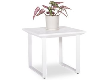 Vivara Outdoor Side Table Matt White Aluminum by Bent Design image
