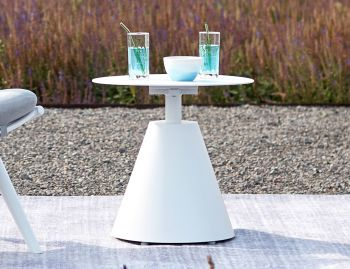 Corvo Outdoor Side Table Matt White by Bent Design image