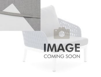Alma Outdoor Single Lounge Chair Matt White Aluminium with Light Grey Cushion by Bent Design image