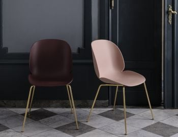 Beetle Dining Chair Un-upholstered with Conic Base by Gubi image