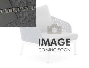 Alma Outdoor Single Lounge Chair Matt Charcoal Aluminium with Dark Grey Cushion by Bent Design image