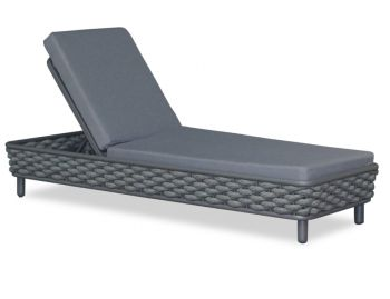 Siano Sun Lounge Matt Charcoal with Dark Grey Cushion by Bent Design image