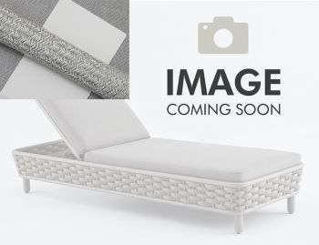 Siano Sun Lounge Matt White with Light Grey Cushion by Bent Design image