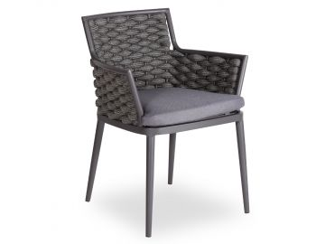 Siano Dining Chair Charcoal with Dark Grey Cushion by Bent Design image