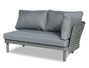 Siano Modular Right Arm 2 Seater Matt Charcoal with Dark Grey Cushion by Bent Design image