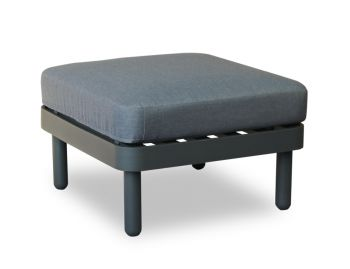 Siano Modular Pouf Matt Charcoal with Dark Grey Cushion by Bent Design image