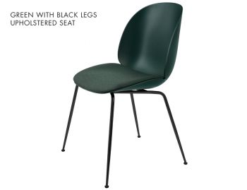 Beetle Dining Chair with Seat Upholstery and Conical Legs by Gubi image