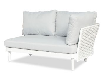 Siano Modular Right Arm 2 Seater Matt White with Light Grey Cushion by Bent Design image
