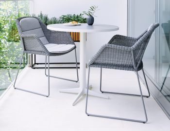 Light Grey Breeze Outdoor Dining Chair by Strand & hvass For Cane-line image