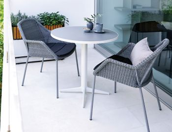 Light Grey Breeze Stackable Dining Chair by Strand & hvass For Cane-line image
