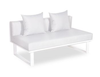 Vivara C No Arm Modular Sofa Section Matt White Aluminium with Light Grey Cushions by Bent Design image