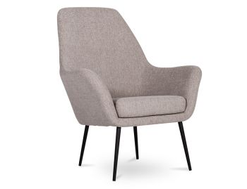 Soho Lounge Armchair in Light Grey Fabric by Bent Design image