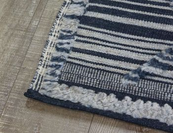 Salerno Blue Handknotted Wool Rug image