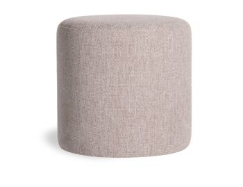 Tito Round Ottoman in Light Grey Fabric by Bent Design image