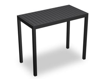 Halki Outdoor High Bar Table Matt Charcoal 125cm x 65cm by Bent Design image
