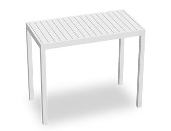 Halki Outdoor High Bar Table Matt White 125cm x 65cm by Bent Design image