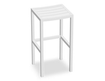 Halki Outdoor Bar Stool Matt White by Bent Design image