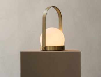 Carrie LED Brushed Brass Lamp by Norm Architects for Menu image