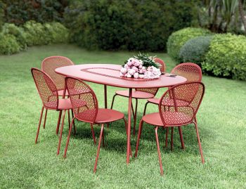 Lorette Oval Table 160 x 100cm by Frederic Sofia for Fermob image
