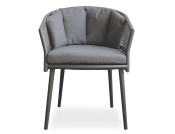 Avila Dining Chair Charcoal with Dark Grey Cushion by Bent Design image
