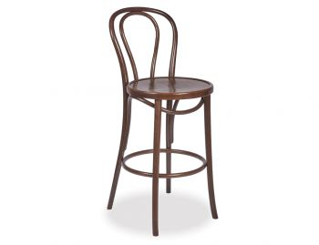 Vienna Walnut Bentwood Thonet Bar Stool by Fameg image
