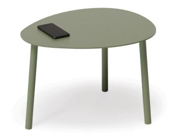 Cetara Outdoor Side Table Matt Pale Eucalyptus Green by Bent Design image