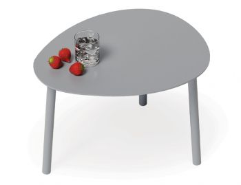 Cetara Outdoor Side Table Matt Silver Grey by Bent Design image