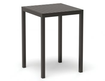 Halki Outdoor High Bar Table Matt Charcoal 77 x 77cm by Bent Design Studio image