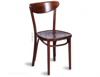 Walnut Roundback Dining Chair by Micheal Thonet image