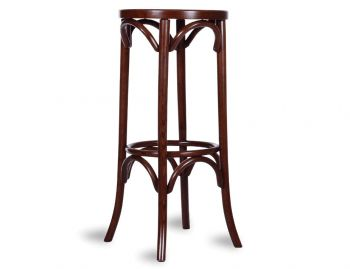 Walnut 80cm Paris Bentwood Thonet Bar Stool by Fameg image