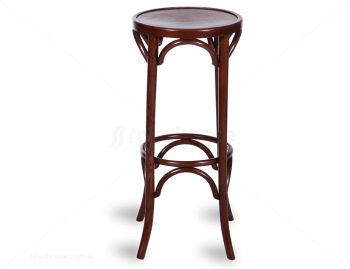 Walnut 80cm Paris Bentwood Bar Stool by Micheal Thonet image