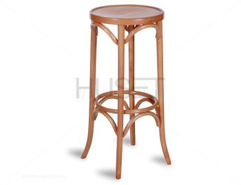 Natural 80cm Paris Bentwood Bar Stool by Micheal Thonet image