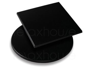 Moulded Laminate Cafe Restaurant Table Top - Black image