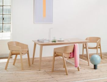 Natural Jutland A Grade Solid European Oak 180 x 90cm Dining Table by Mads Johansen for TON image