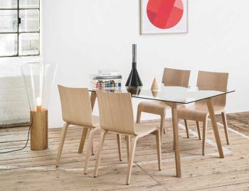 Natural Similda Solid Oak 160x90cmcm Dining Table by Eugenia Minerva for TON image