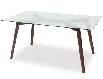 Coffee Stained Similda Solid Beechwood 160x90cm Dining Table by Eugenia Minerva for TON image