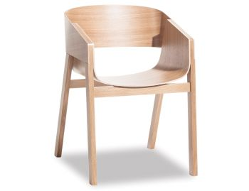 Merano Natural Oak Armchair by Alex Gufler for TON image