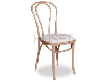 Natural Vienna Box Seat Bentwood Chair with Cream Seat Pad by Micheal Thonet image