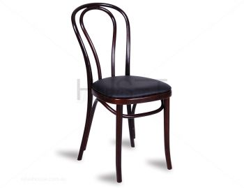 Wenge Vienna Box Seat Bentwood Chair with Black Seat Pad by Micheal Thonet image