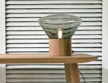 Muffins Solid Oak Table Lamp H346 by Dan Yeffet and Lucie Koldova for Brokis image