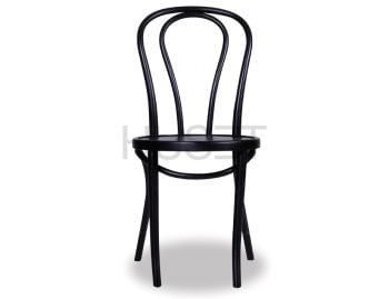Vienna 18 Black Bentwood Thonet Chair by Fameg image
