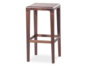 Walnut Rioja 65cm Kitchen Stool by Lounge Design Group for TON image
