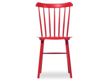Red Ironica Dining Chair by Tom Kelley for TON image