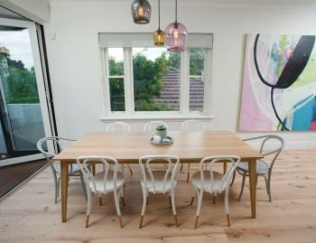 Natural Jutland A Grade Solid European Oak 220 x 100cm Dining Table by Mads Johansen for TON image