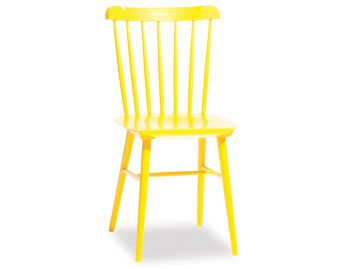 Yellow Ironica Dining Chair by Tom Kelley for TON image