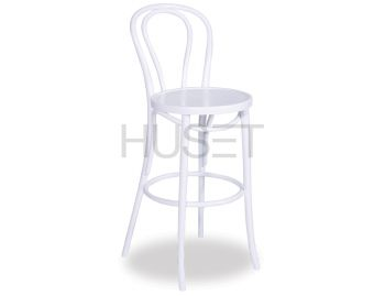 Vienna White Bentwood Bar Stool by Micheal Thonet image